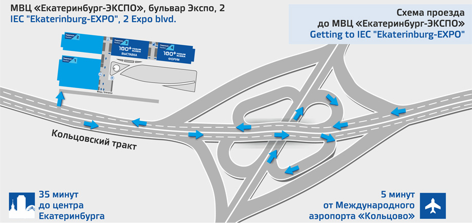 "Getting to IEC ""Ekaterinburg-EXPO"""